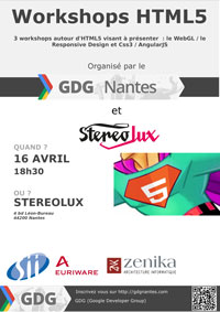 GDG Nantes & Stereolux : Workshop HTML5